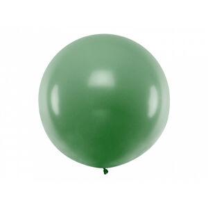 PartyDeco Guľatý latexový Jumbo balón 1m tmavozelená