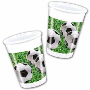 Procos Poháre Futbal 8 ks zelené