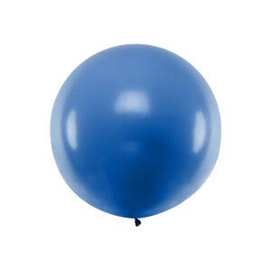 PartyDeco Guľatý latexový Jumbo balón 1m modrá