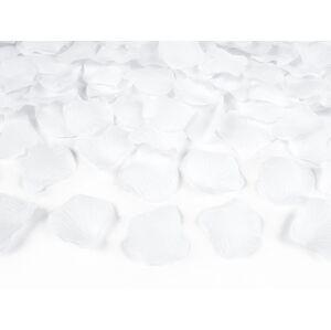 PartyDeco Lupene ruží biele 100 ks