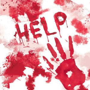 Amscan Krvavé servítky - HELP 33 x 33 cm