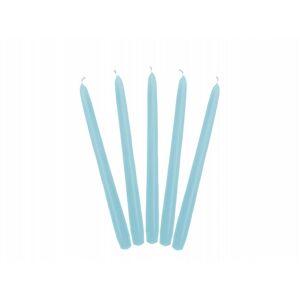PartyDeco Kónická sviečka svetlomodrá - matná 24 cm