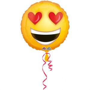 Amscan Fóliový balón Zamilovaný emotikon
