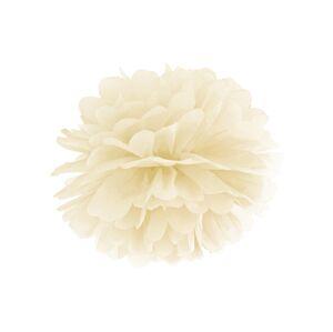PartyDeco Pompom v tvare kvetu krémový 35 cm