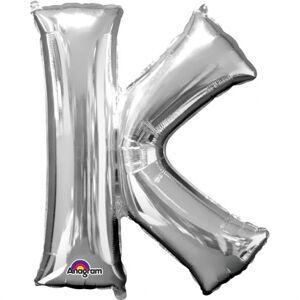 Amscan Fóliový balónik písmeno K 86 cm strieborný