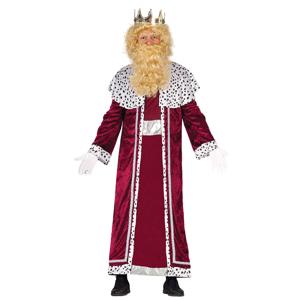 Guirca Kostým kráľ Gašpar - červený Veľkosť - dospelý: L