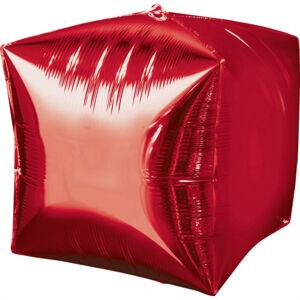 Amscan Fóliový balón Kocka - červená 38 x 38 cm