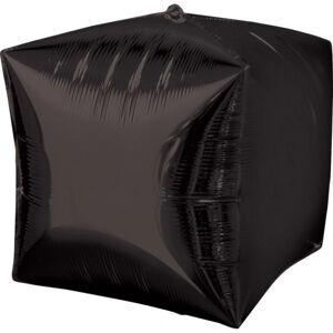 Amscan Fóliový balón Kocka - čierna 38 x 38 cm