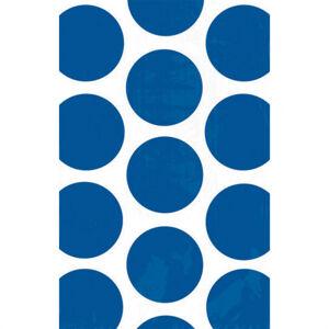 Amscan Papierové vrecúška bodkované - modré 10 ks