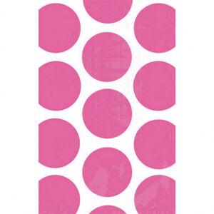 Amscan Papierové vrecúška bodkované - ružové 10 ks