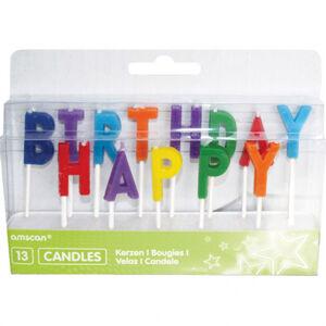 Amscan Sviečky Happy Birthday - farebné