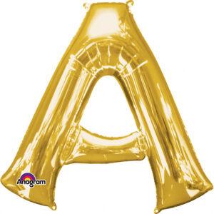 Amscan Mini fóliový balónik písmeno A 33 cm zlatý