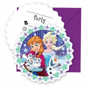 Procos Pozvánky Frozen - Snowflakes 6 ks