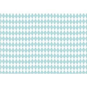 PartyDeco Baliaci papier farebný mix Farba: Zelený so štvorcami