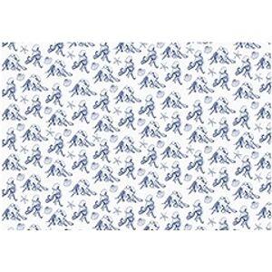 PartyDeco Baliaci papier modro-biely mix Farba: Modro-biely s mušľami