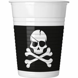 Procos Poháre Čierni piráti 8 ks