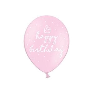 PartyDeco Balónik Ružový Veselé Narodeniny