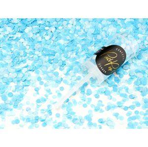 PartyDeco Malé Vystreľovacie konfety modrej farby