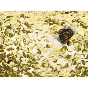 PartyDeco Malé Vystreľovacie konfety zlatej farby