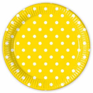 Procos Bodkované taniere - žlté 8 ks