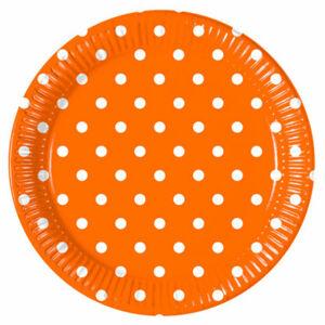 Procos Bodkované taniere - oranžové 8 ks