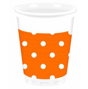Procos Bodkované poháre - oranžové 10 ks