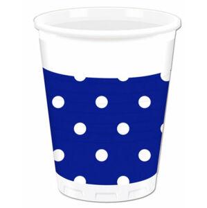 Procos Bodkované poháre - kráľovská modrá 8 ks