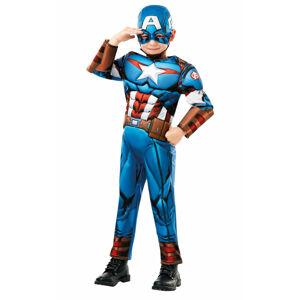 Rubies Kostým Captain America detský deluxe Veľkosť - deti: S