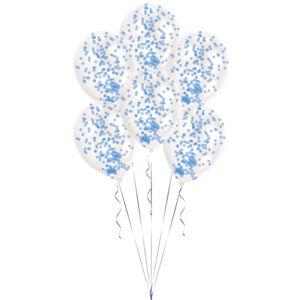Amscan Latexové balóny s konfetami modré 6 ks