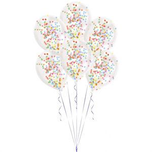 Amscan Latexové balóny s konfetami mix 6 ks
