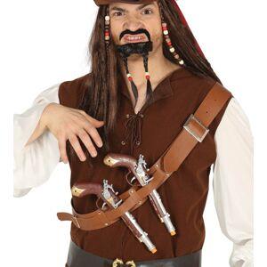 Guirca Pirátsky pás s dvoma pištoľami