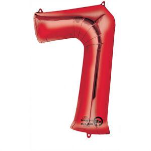 Amscan Balónik fóliový narodeninové číslo 7 červený 86 cm