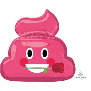 Amscan Fóliový balón emoticon pink poop