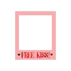 PartyDeco Selfie foto rámček - Free Kiss