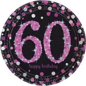 Amscan Taniere 60.narodeniny - Trblietavá ružová