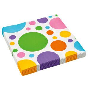 Amscan Bodkované servítky - farebné 20 ks