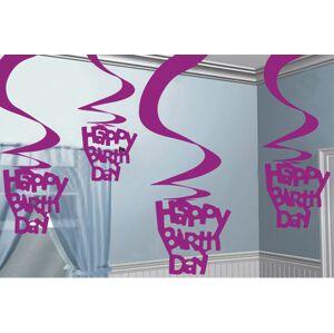 Amscan Dekorácia Víry Happy Birthday ružové