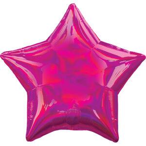 Amscan Fóliový balón - Holografická ružová Hviezda
