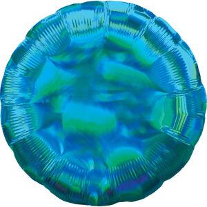Amscan Fóliový balón - Holografický modrý Kruh