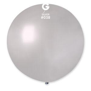 Gemar Guľatý metalický balónik 80 cm strieborný