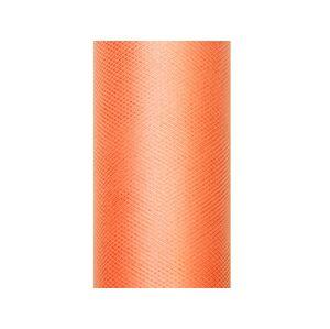 PartyDeco Tyl hladký - oranžový