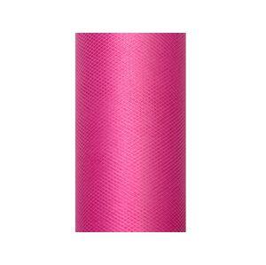 PartyDeco Tyl hladký - ružový 0,3x9m
