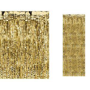 PartyDeco Párty záves zlatý 90 x 250 cm