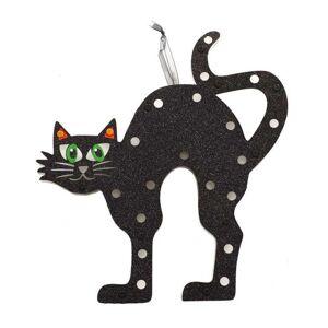 Guirca Závesná mačka na stenu so svetlom 28 x 30 cm