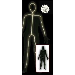 Guirca Pánsky kostým - Svietiaci muž v čiernom