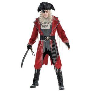 Amscan Pánsky kostým - Zombie Kapitán pirátov Veľkosť - Dospelí: M/L