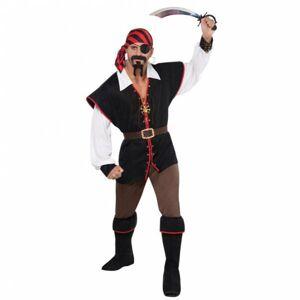 Amscan Pánsky kostým - Pirát rebel mora Veľkosť - Dospelí: XL
