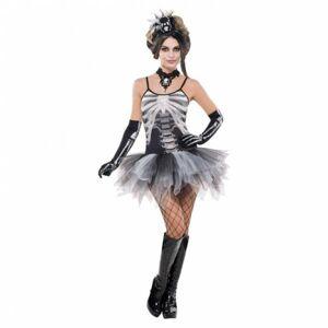 Amscan Dámsky kostým - Tutu šaty čierna kostra