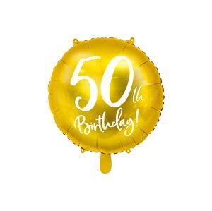 PartyDeco Fóliový balón - 50tka (zlatý)