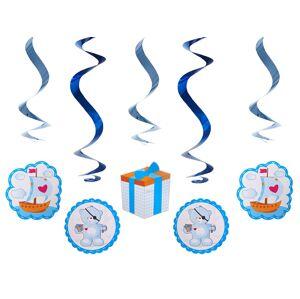 PartyDeco Visiace dekorácie Medvedík - modrý